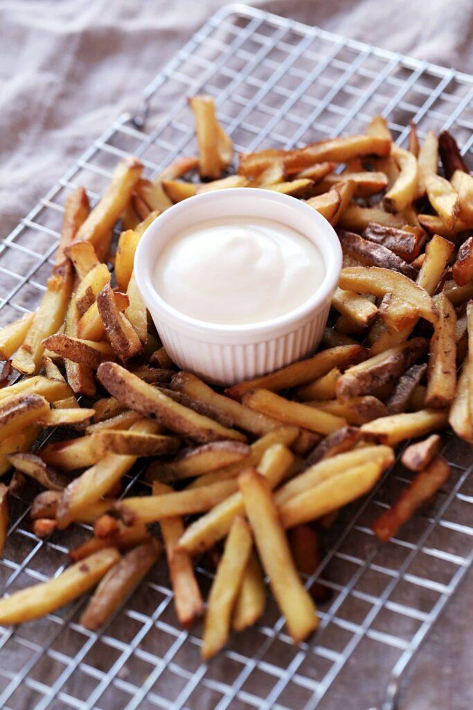 Fries on Oven Rack